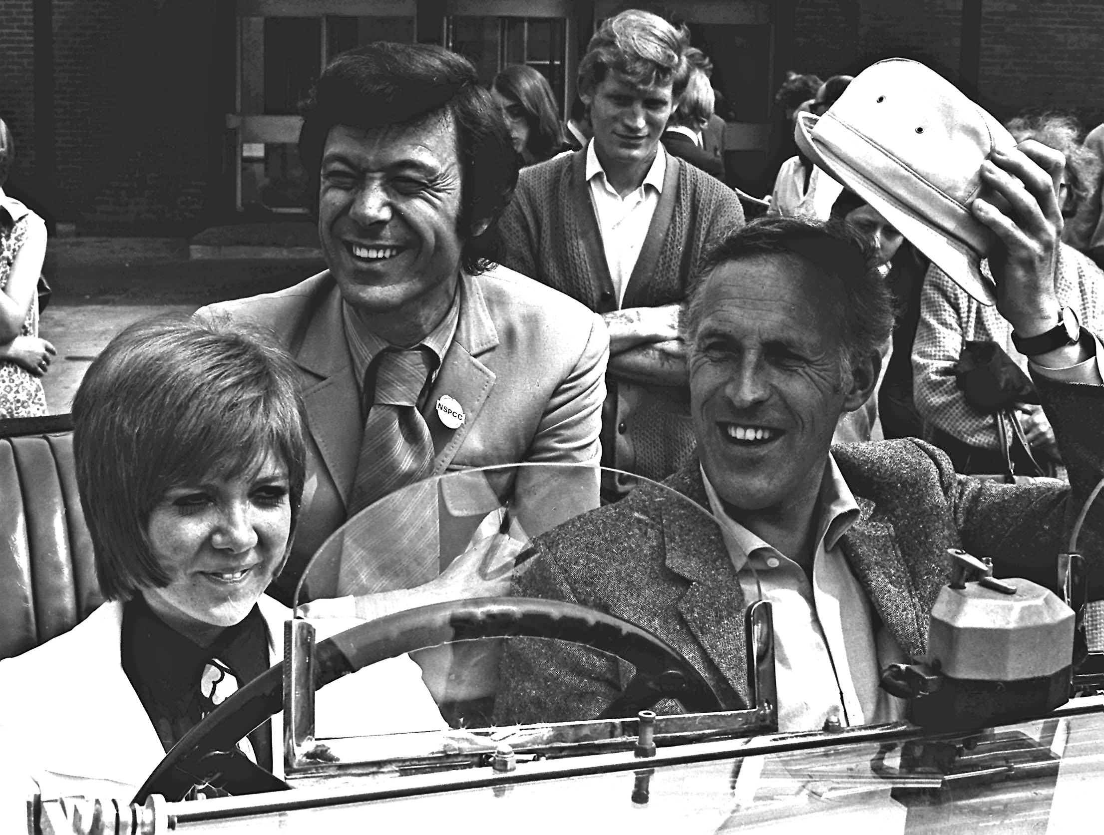 With Cilla Black and Lionel Blair in 1969 (PA)