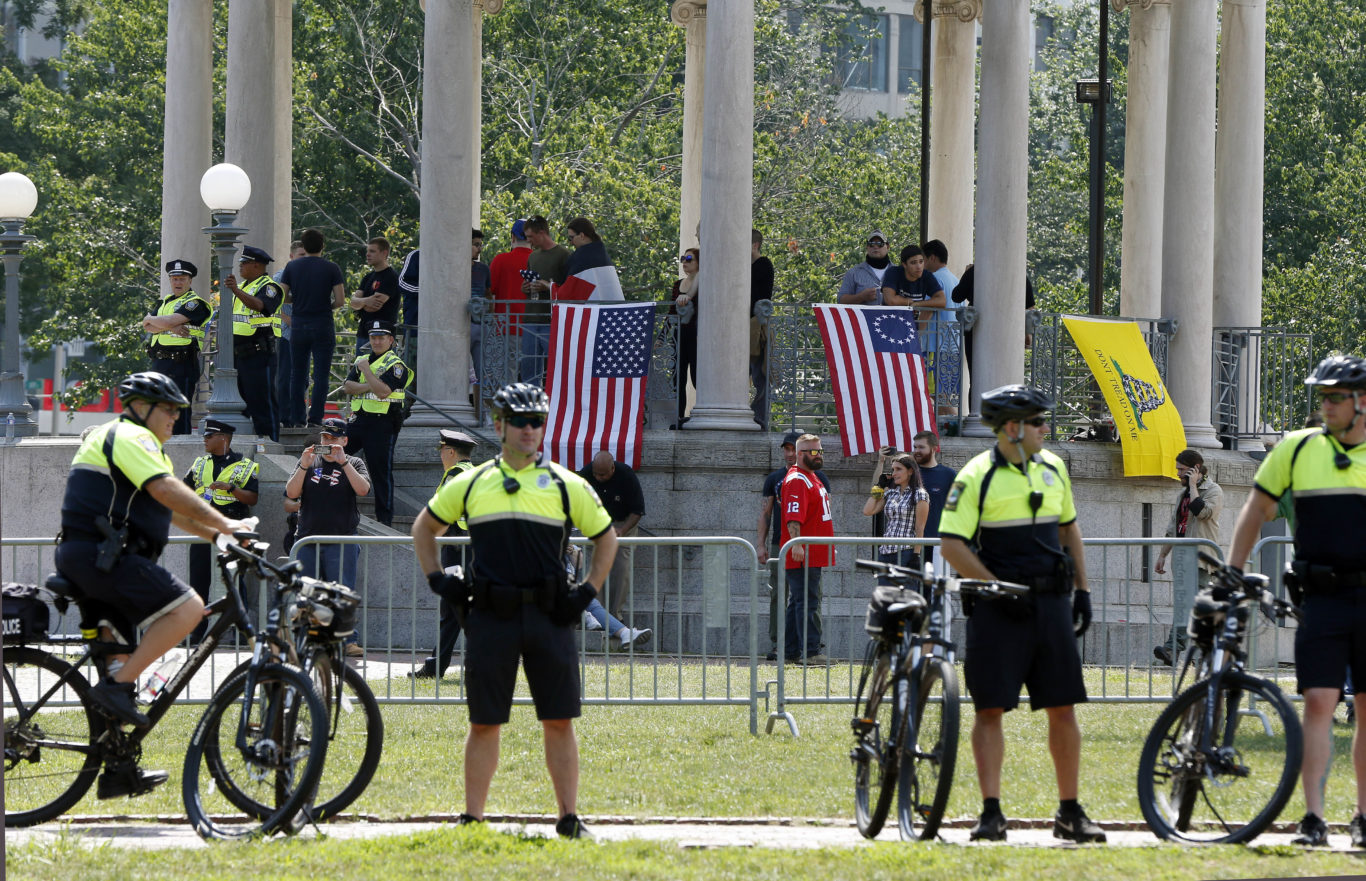 Protesters in Boston (Michael Dwyer/AP/PA)