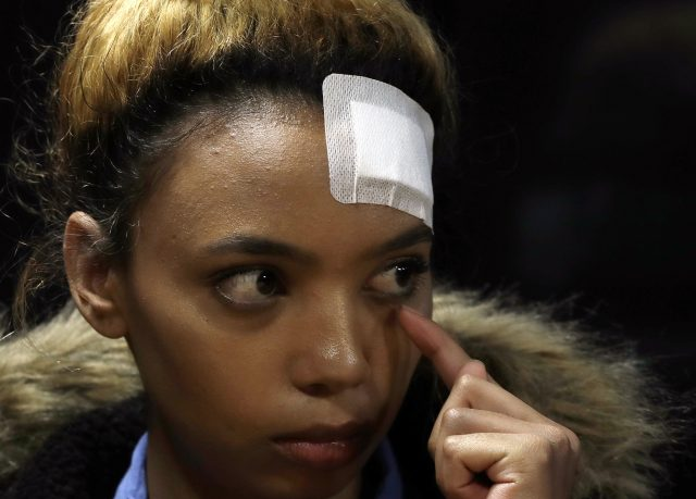 Gabriella Engels claims she was assaulted by Grace Mugabe (Themba Hadebe/AP)