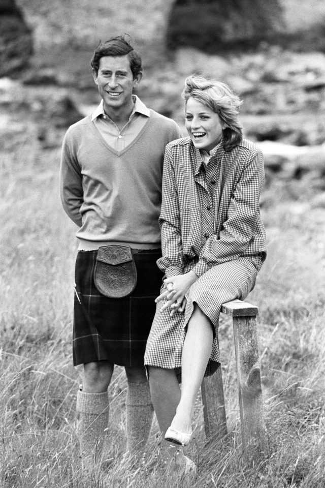 The Prince and Princess of Wales take a break during their stroll along the River Dee