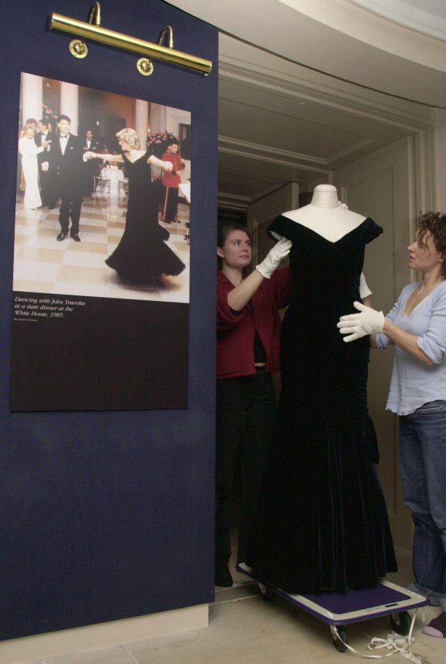 The Victor Edelstein dress worn by Diana at the White House where she famously danced with John Travolta
