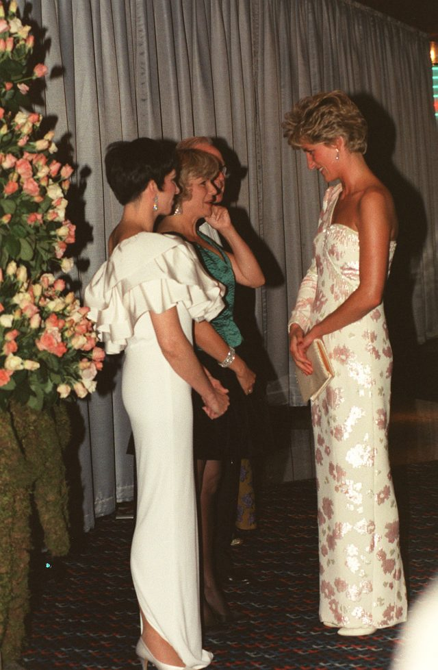 Diana in a Catherine Walker gown at the Stepping Out premiere