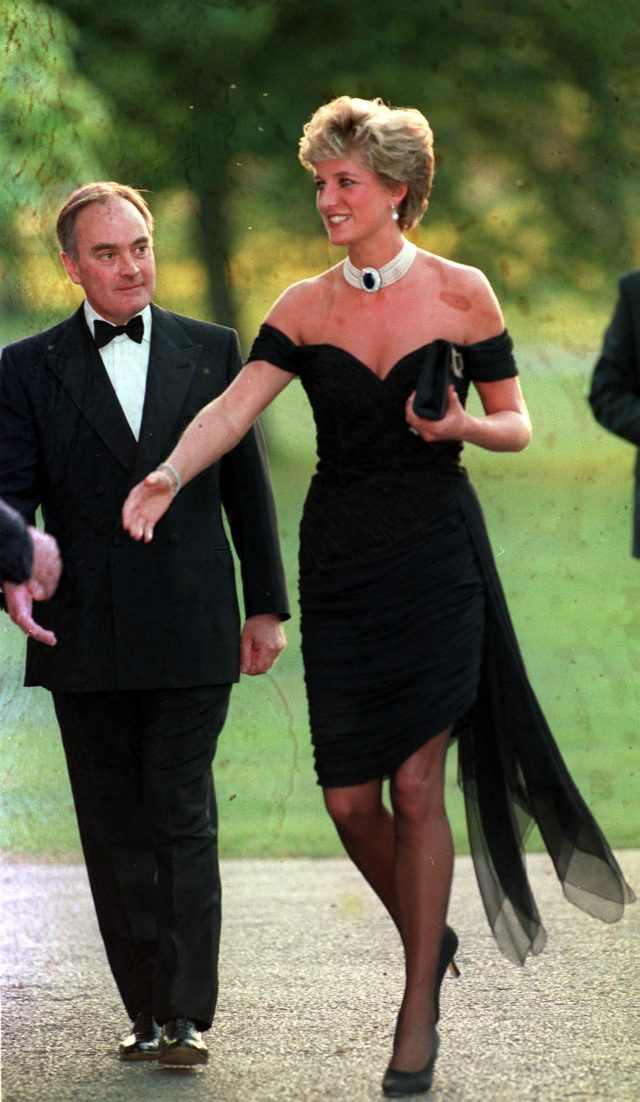 The Princess of Wales arrives at the Serpentine Gallery in Hyde Park in 1994