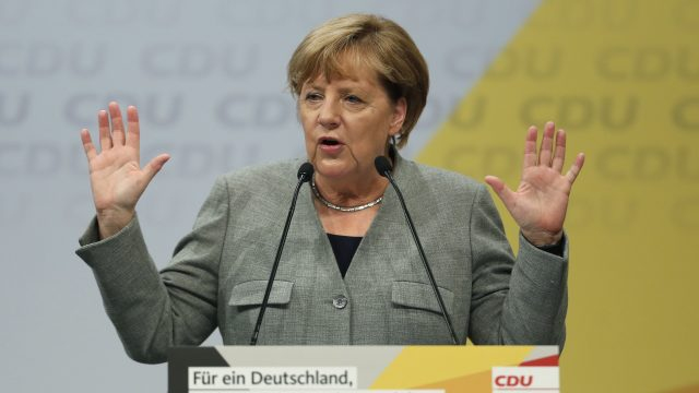 Almost a million refugees arrived in Germany in 2015 which prompted criticism of Mrs Merkel from some politicians on the right