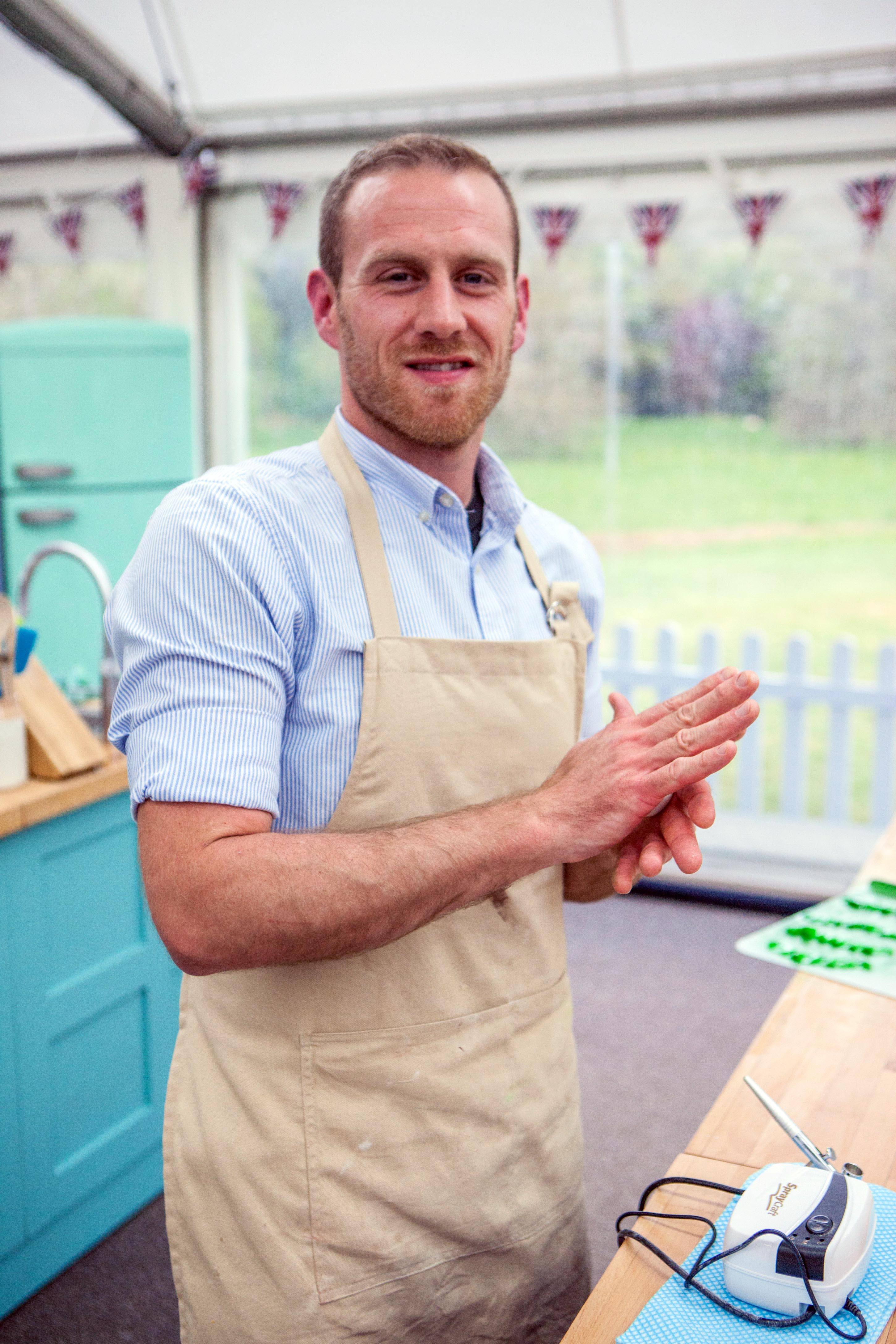 Steven on the Great British Bake Off