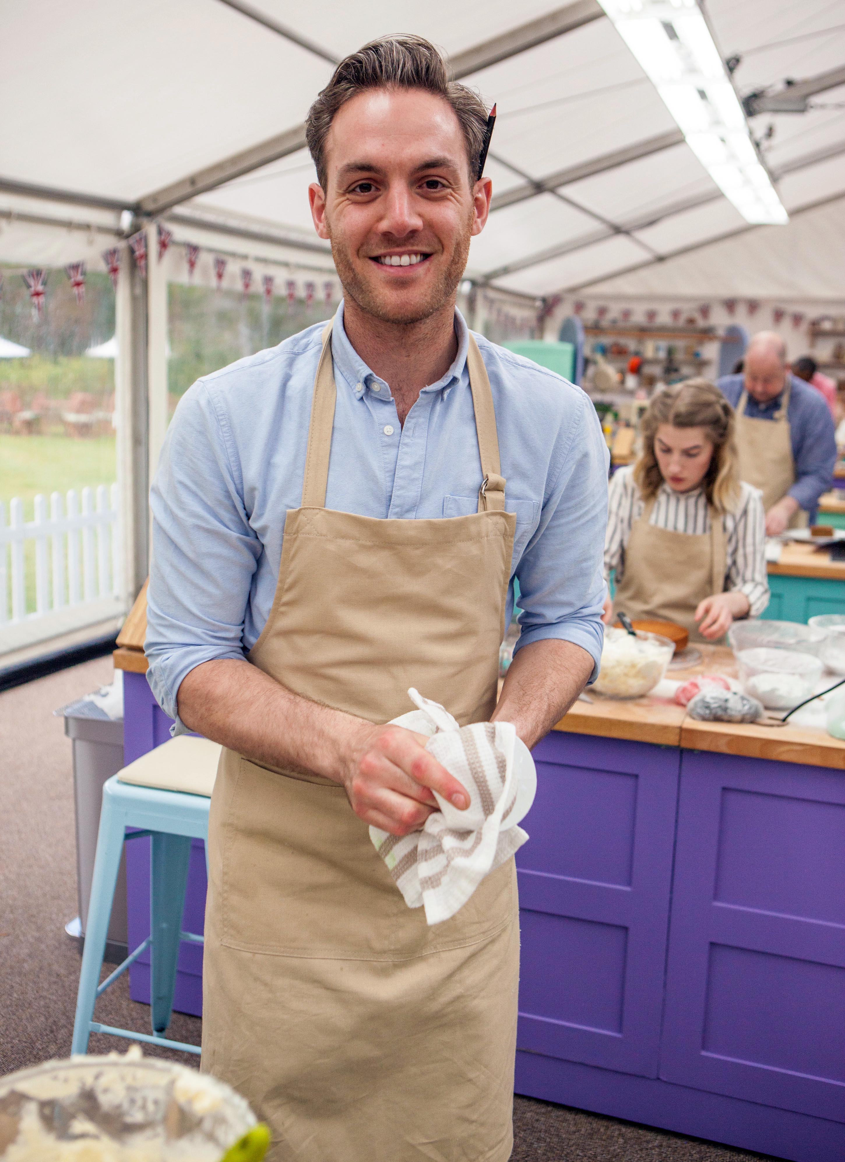 Tom on Bake Off