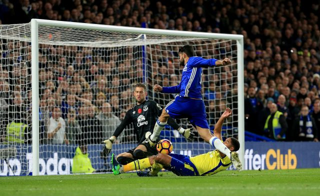 Diego Costa scored one of Chelsea's five goals when Everton last visited Stamford Bridge in November