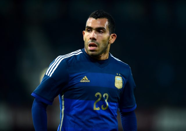 Carlos Tevez has played in England for Manchester United, Manchester City and West Ham