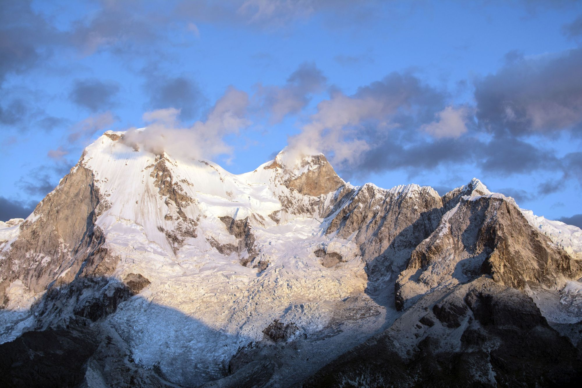 Snow-capped peaks in the Peruvian Andes, Huascaran National Park (BBC/Matthew Wright/PA)