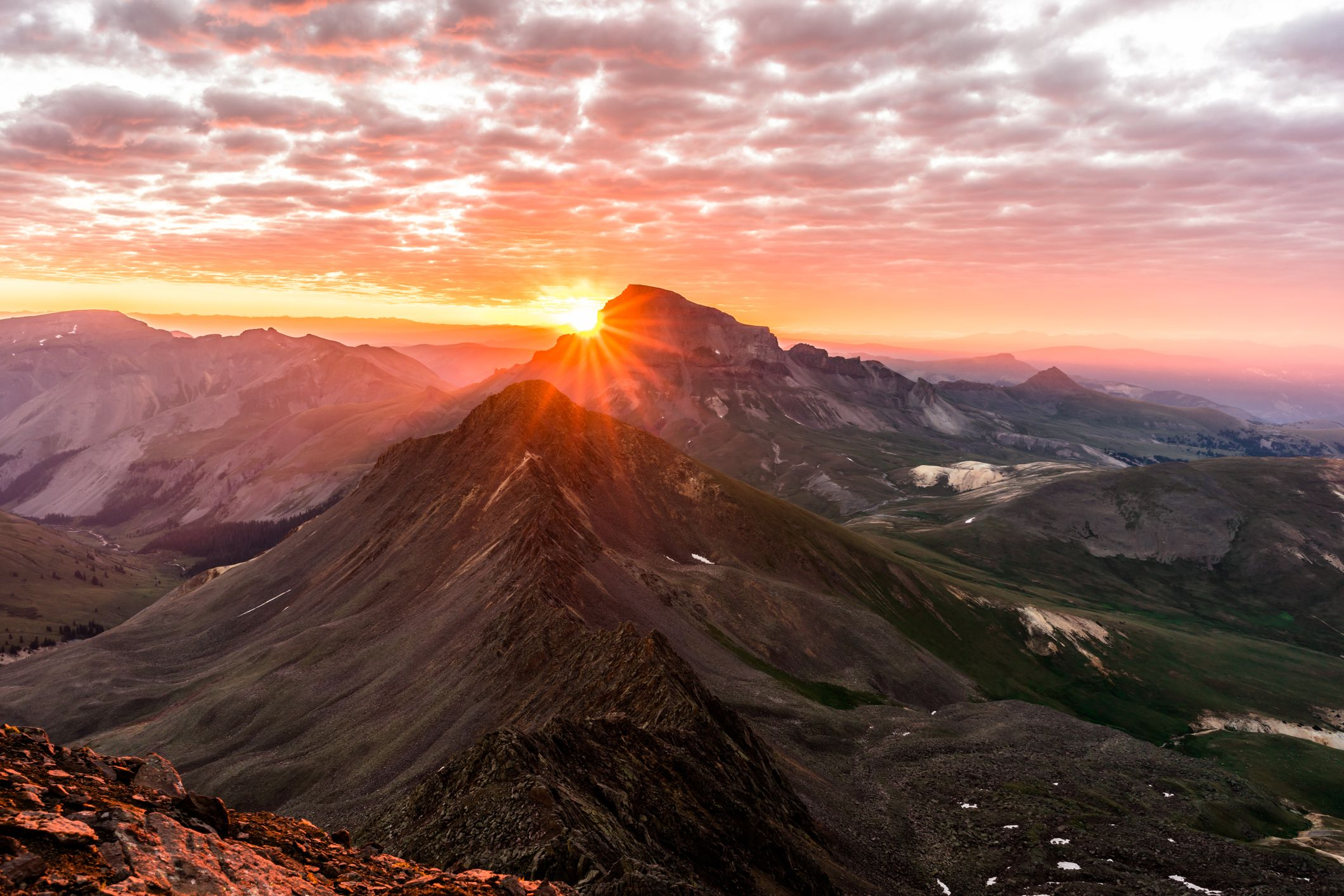 Sunrise from Wetterhorn Peak in the San Juan Range of the Colorado Rockies (Thinkstock/PA)