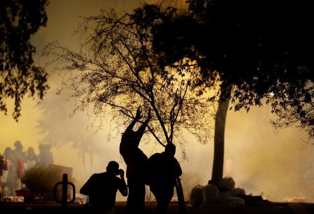 Tear gas in Phoenix