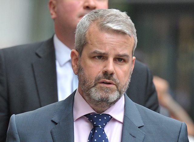 Widower Matthew Briggs sat in court throughout the trial