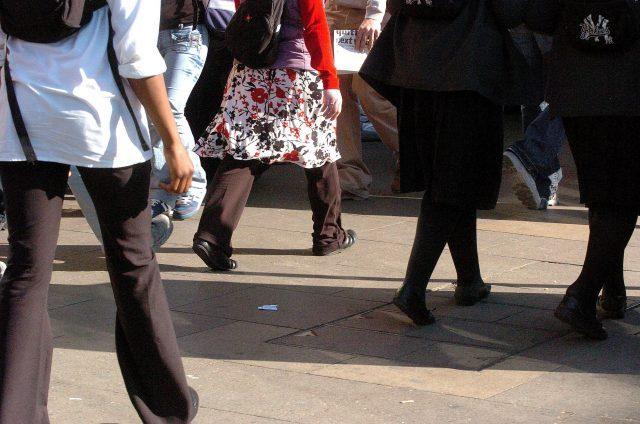 People walking down Oxford Street