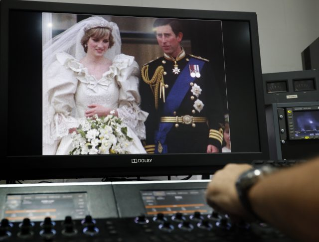 Film of Charles and Diana's wedding is watched