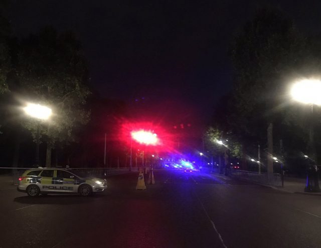 Police on The Mall near Buckingham Palace