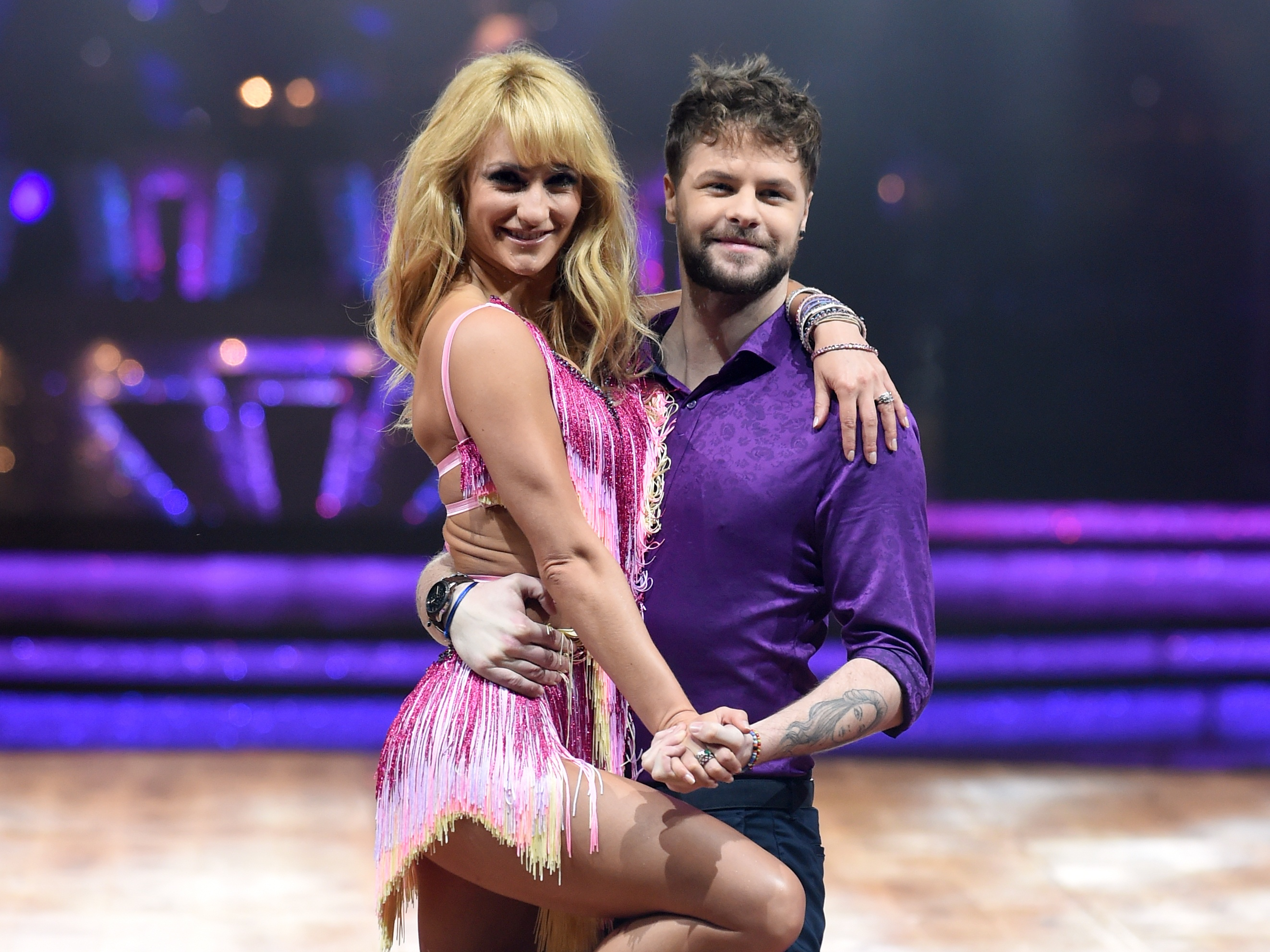 Jay McGuinness and partner Aliona Vilani rake the Strictly stage.
