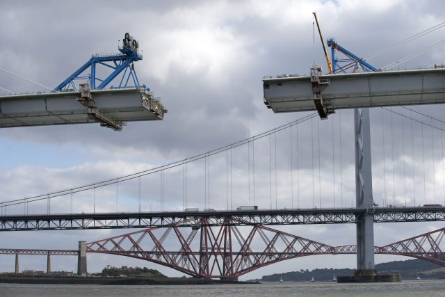 The new Queensferry Crossing being built