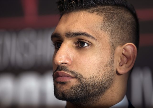 Amir Khan during a press conference