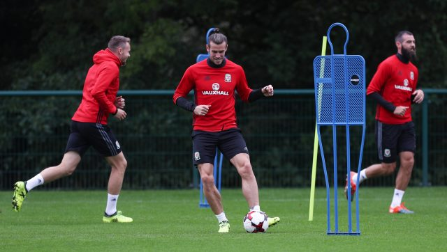 Gareth Bale during a training session at The Vale Resort, Hensol Aaron Chown/PA)