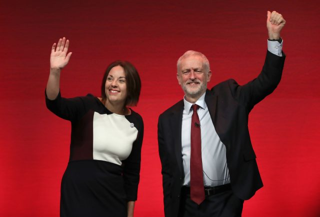 Kezia Dugdale and Labour leader Jeremy Corbyn