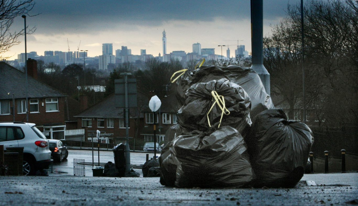 Rubbish piles up on the Beeches estate in north Birmingham  (David Jones/PA)