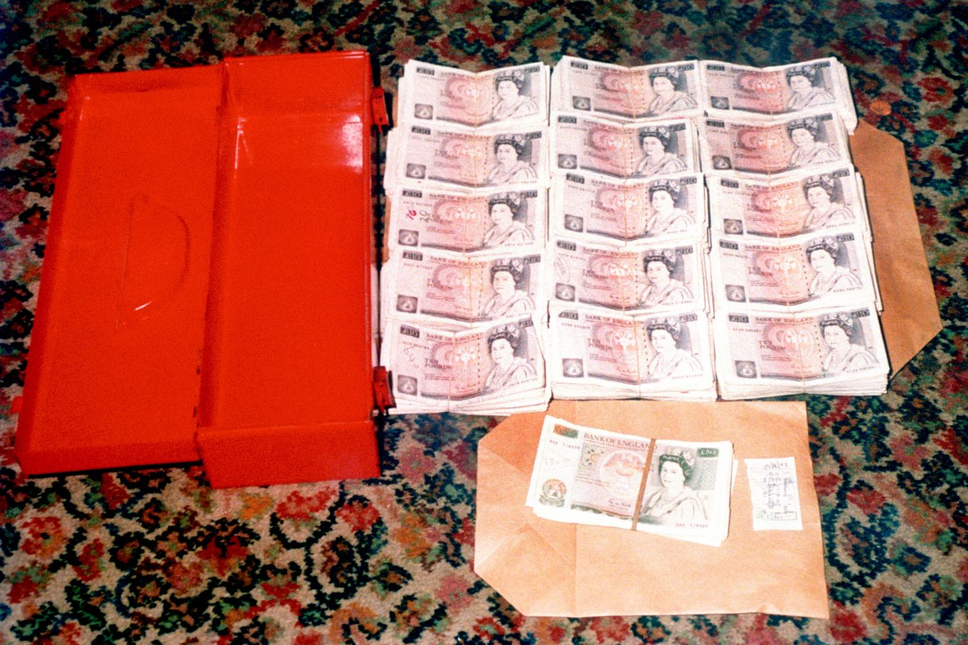 Some of the ransom money recovered by police investigating the kidnap of Stephanie Slater (PA)
