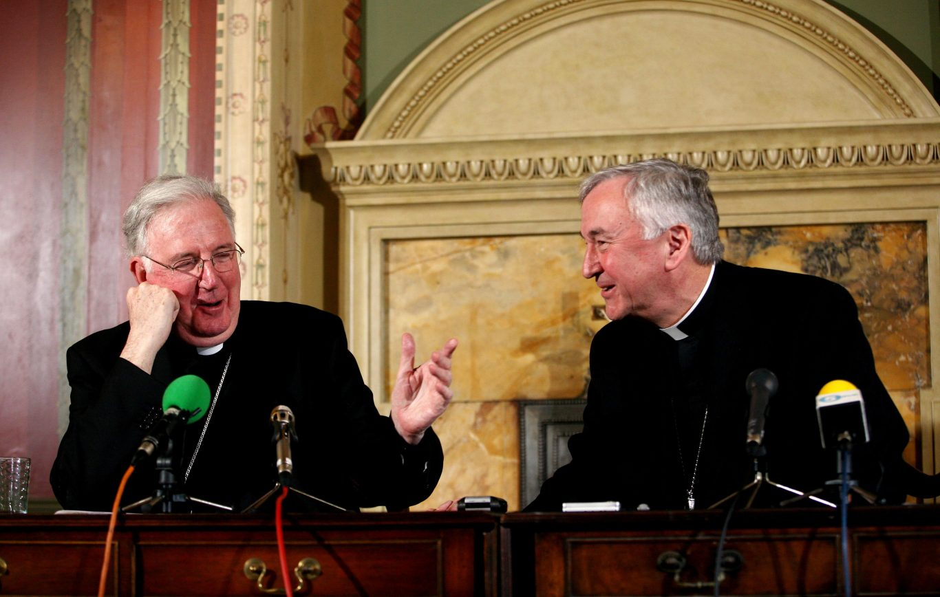 Archbishop of Westminster Vincent Nichols with Cardinal Cormac Murphy-O'Connor in 2009 (Katie Collins/PA)