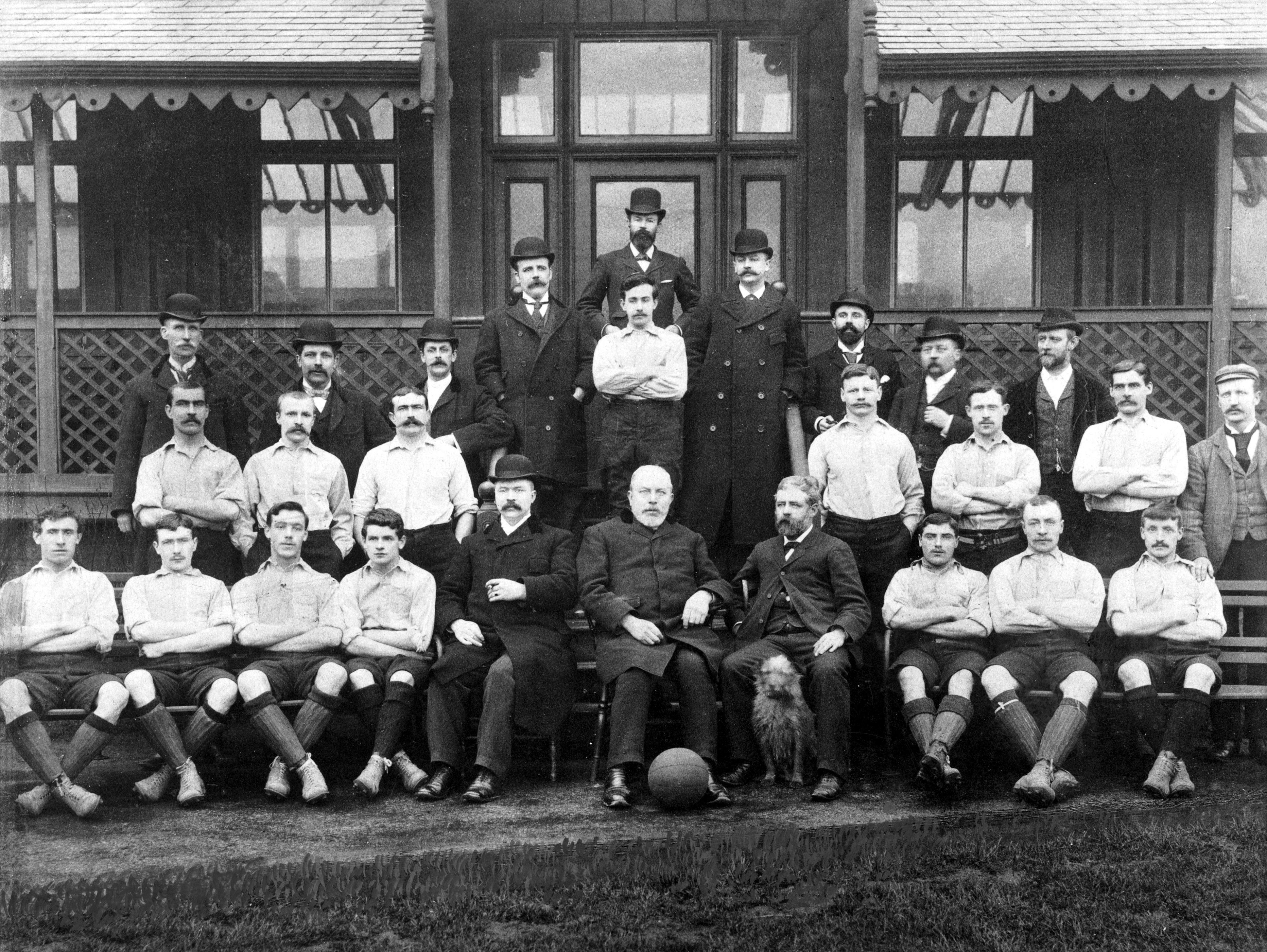 A Liverpool squad photo from 1893