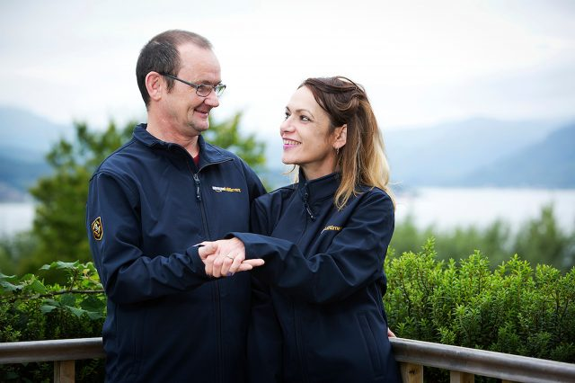 Amazon worker Tatiana Fernandez and fiance Stuart O'Neil. (Clear Box Communications/PA)