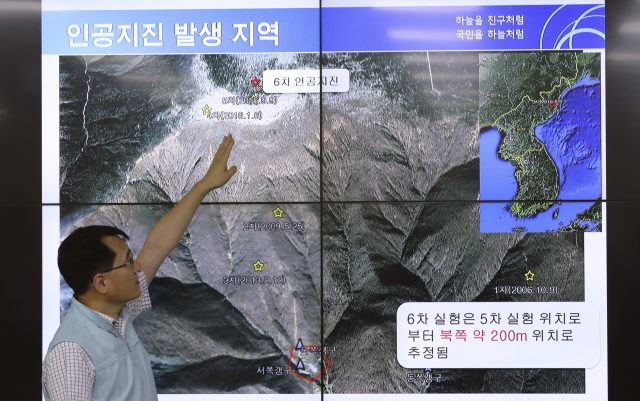 North Korea nuclear testing triggers tremor