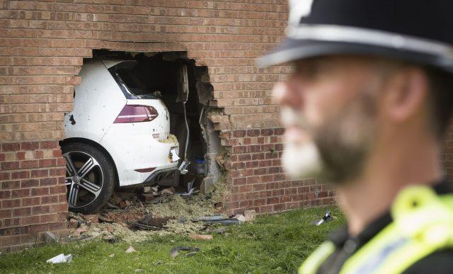 The scene in Morehall Close, Clifton, York. (Danny Lawson/PA)