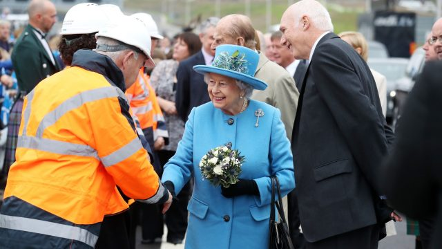 The Queen meets people who worked on the Queensferry Crossing during the official opening
