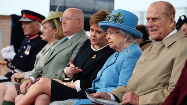 This was Prince Philip's first official appearance alongside the Queen since retiring from solo royal engagements last month