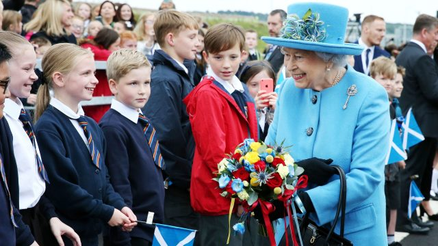 Hundreds of people, mainly schoolchildren, attended the official opening