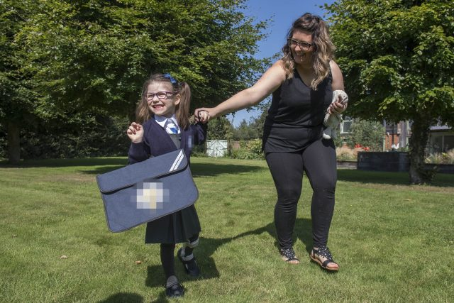 Evie survived using a mechanical heart for more than seven months before receiving the transplant in early 2016