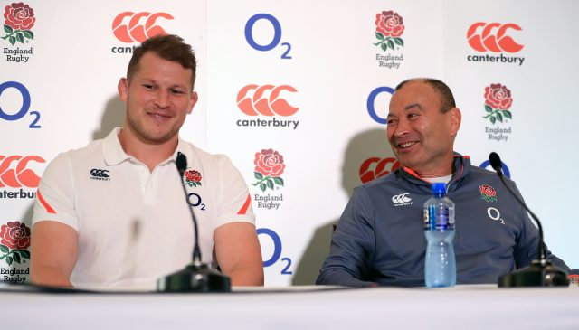 Dylan Hartley and Eddie Jones (Mike Egerton/PA)