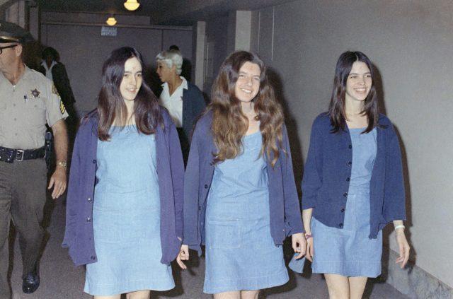 Charles Manson followers Susan Atkins, Patricia Krenwinkel and Leslie Van Houten