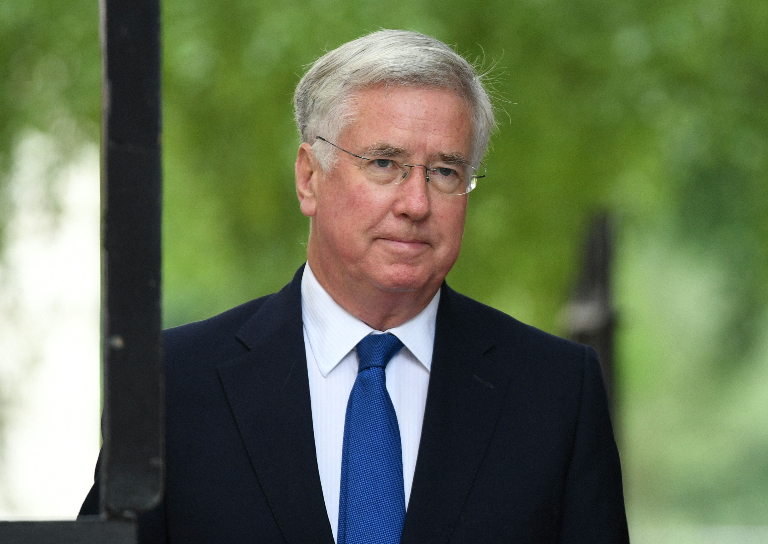 Defence Secretary Sir Michael Fallon arriving for a cabinet meeting