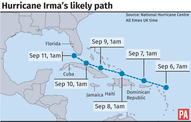 Florida Dca Map.Watch This Dramatic Footage Recorded In The Eye Of Hurricane Irma