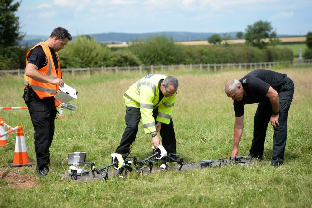 Officers from Devon & Cornwall and Dorset Police working together on a joint drone unit