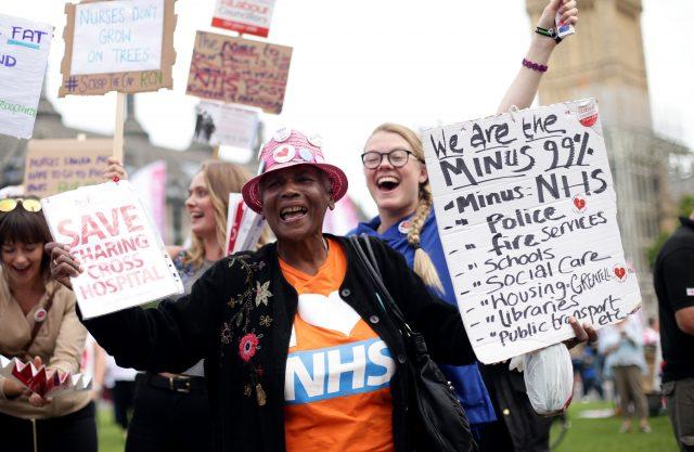 Nurses protest (Yui Mok/PA)