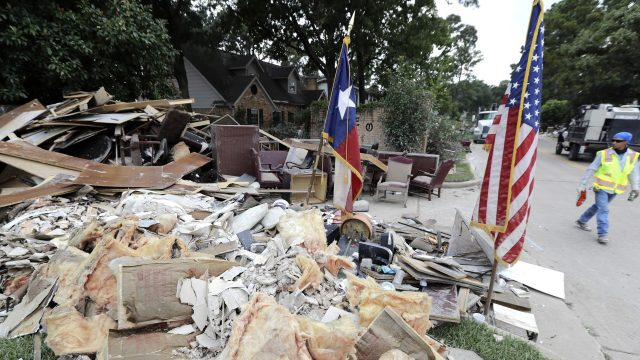 Thousands of houses were left damaged by Hurricane Harvey and Irma