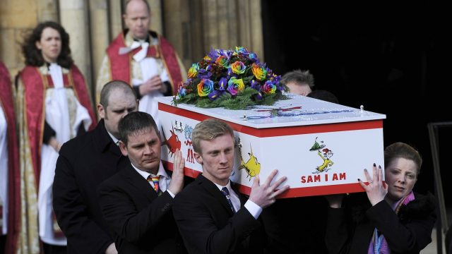 Katie Rough's funeral took place at York Minister