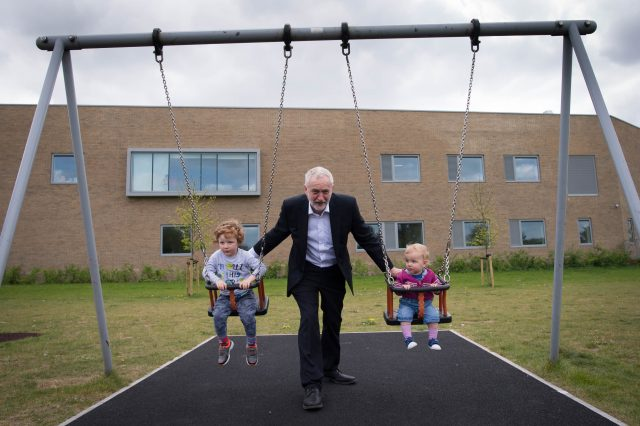 Mr Corbyn is expected to promise investment of £500 million in Sure Start (Stefan Rousseau/PA)