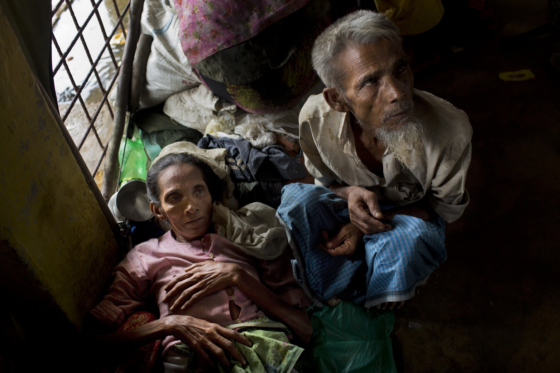 Newly arrived Rohingya Muslims in a refugee camp in Bangladesh (Bernat Armangue/AP)