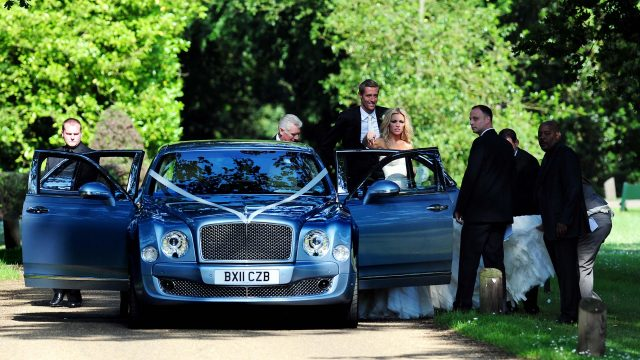Ricky Hayden, left, acted as a bodyguard for high-profile celebrities including footballer Peter Crouch and model Abbey Clancy