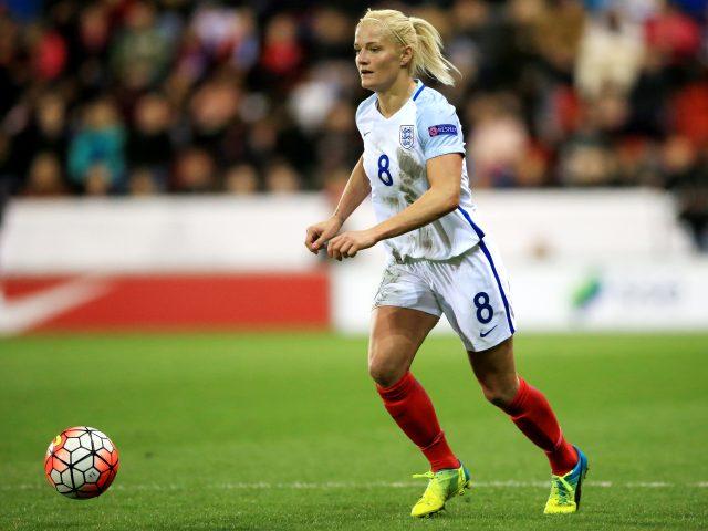 Katie Chapman in action for England Women
