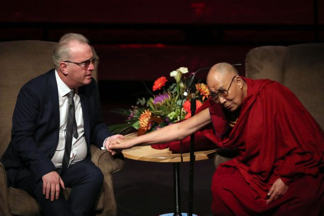Dalai Lama and Richard Moore