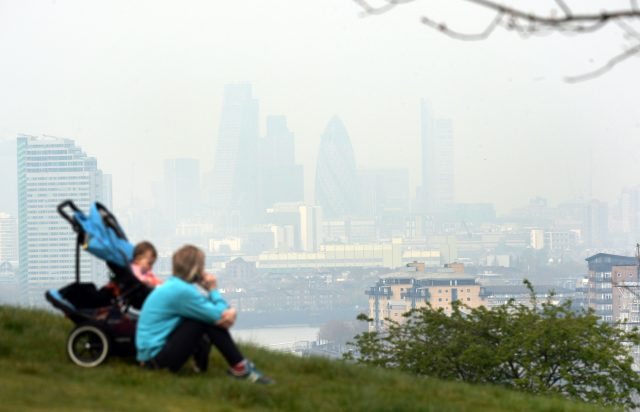 Pollution hanging over London