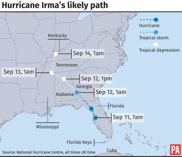 Hurricane Irma: Cuba Hit with Strong Winds and Heavy Rain